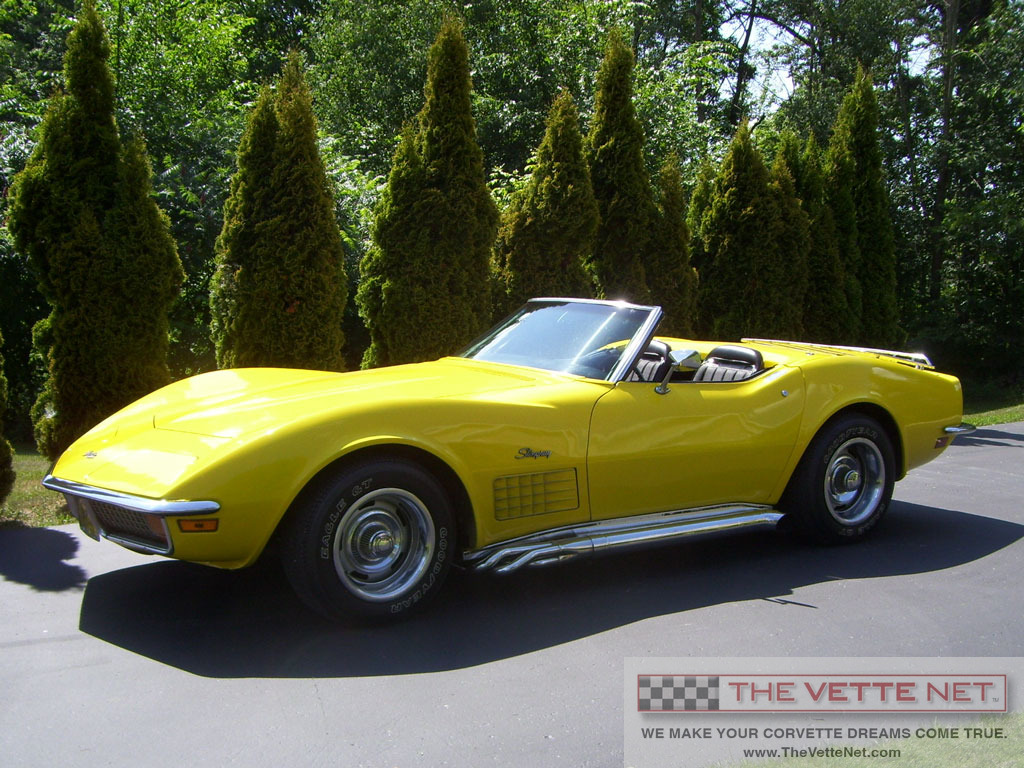 1972 Yellow Convertible Corvette Corvette News