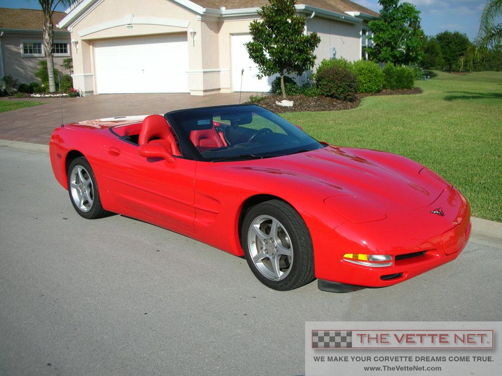 2002 Torch Red Convertible Corvette