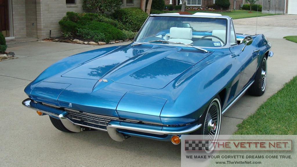 1967 Marina Blue Convertible Corvette